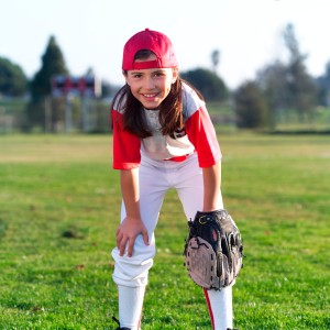 Smiling Little Leaguer