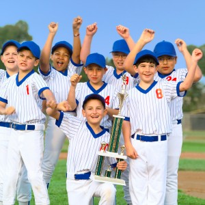 Cheering Little League Champions
