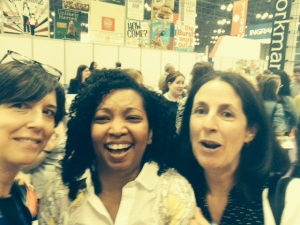 Elise Howard, Tracey Baptiste and me BEA 2014