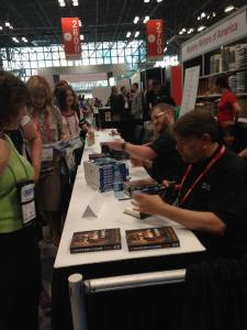 Dennis signing at BEA 2015